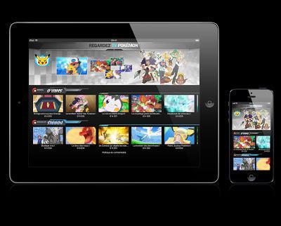 Pokémon: regardez-les tous, sur tablettes et smartphones