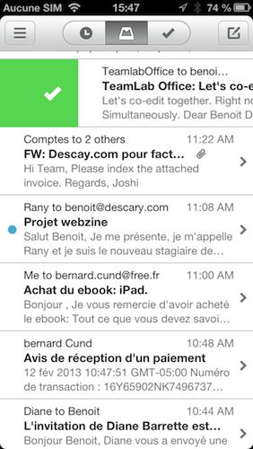 mailbox gmail iphone0 descary Mailbox, probablement le meilleur client Gmail pour iPhone