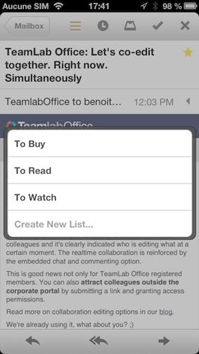mailbox gmail iphone0 descary 3 Mailbox, probablement le meilleur client Gmail pour iPhone