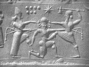Gilgamesh s'en prend au gardien des cèdres, Humbaba