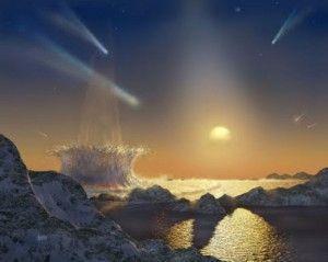 Destructions anciennes explosion météore Terre