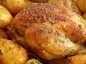 Poulet cocotte pommes terre rôties