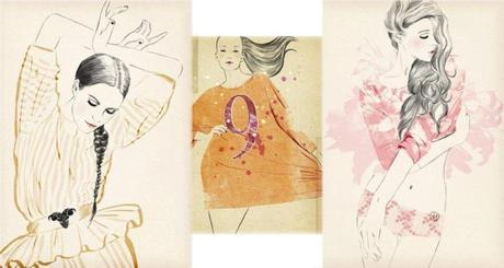 sandra suy fashion illustrator, illustration de mode