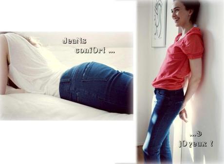 greenandpepper jeans coton bio, jean 'colo