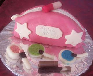 Gateau D Anniversaire Trousse De Maquillage Au Chocolat Chantilly