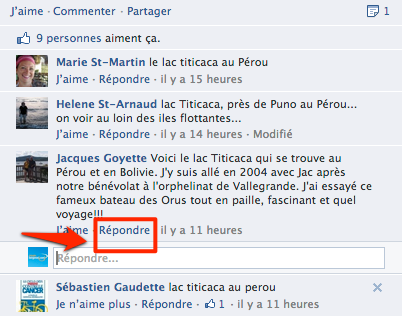 commentaire facebook