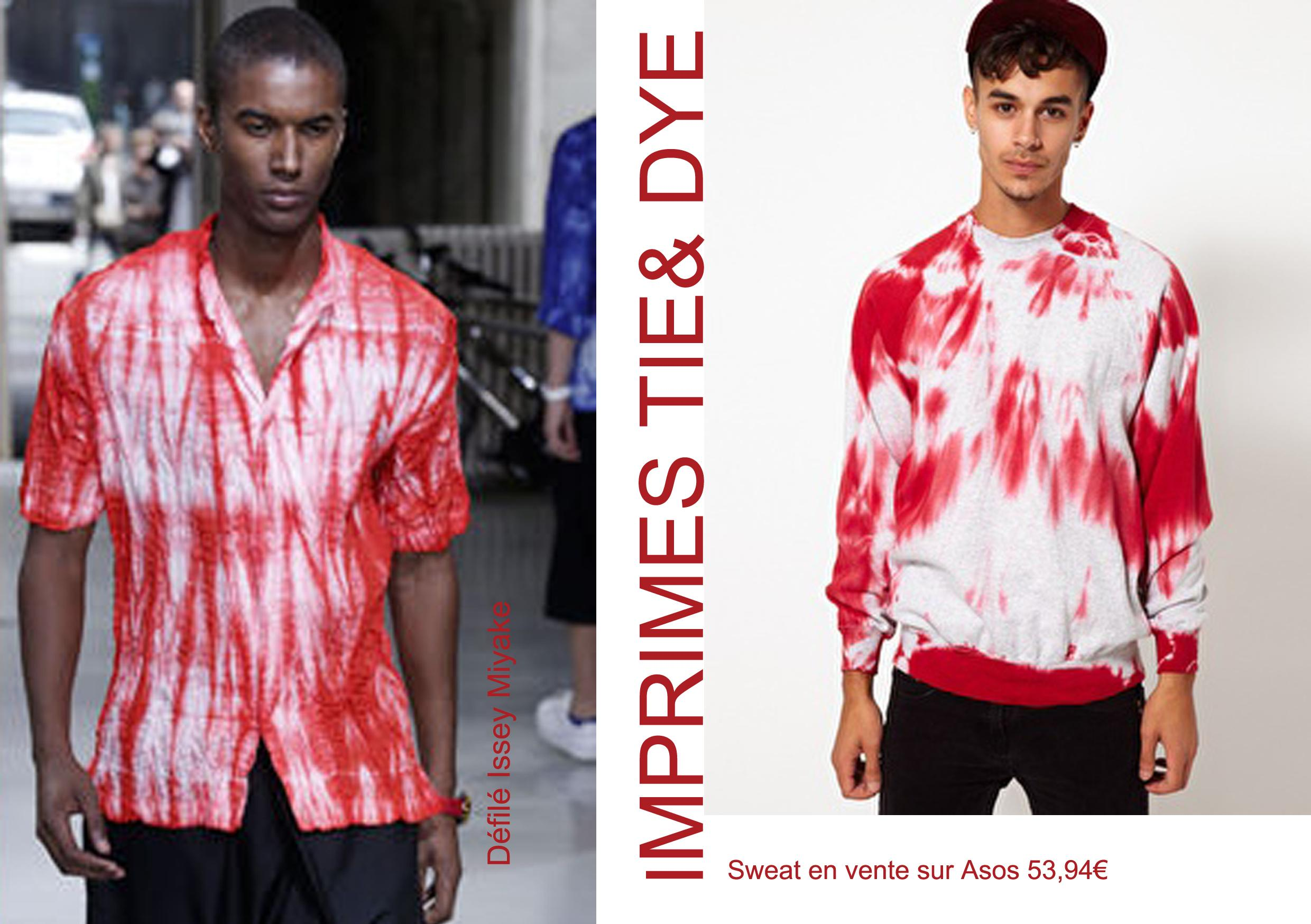 sélection shopping, mars 2013, mode homme, tendance printemps, tie & dye, inspiration Issey Miyake