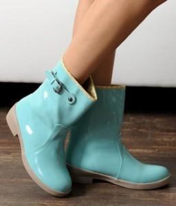 Yeswalker bottes de pluie bleues