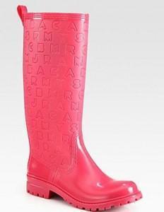 Bottes de pluie Marc Jacobs roses