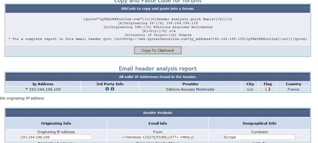 analyse email
