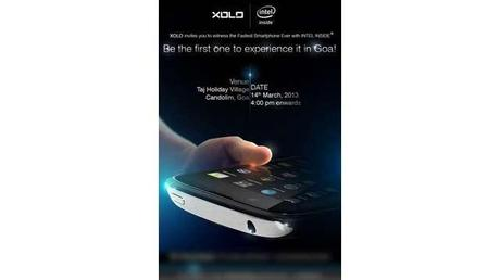 XOLO's invite for the announcement on March 14