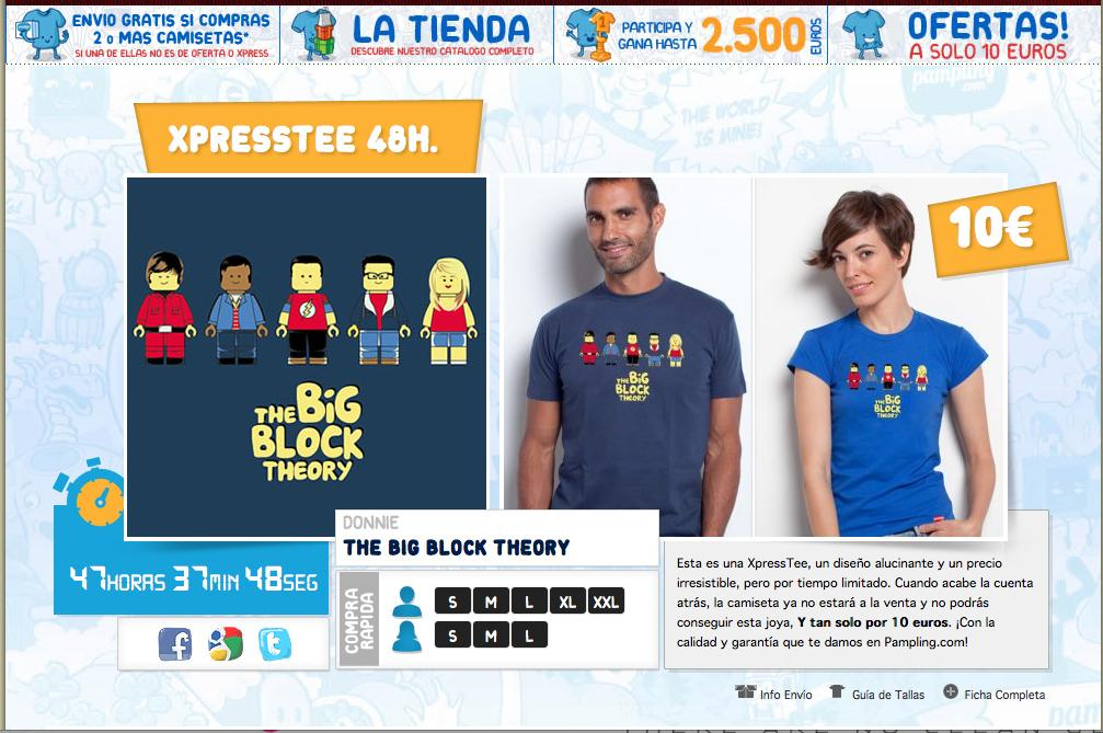 T-shirt « The Big Block Theory » 48h Sur Pampling
