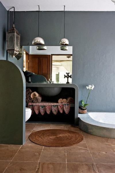 Osez une décoration en couleurs : sdb grise