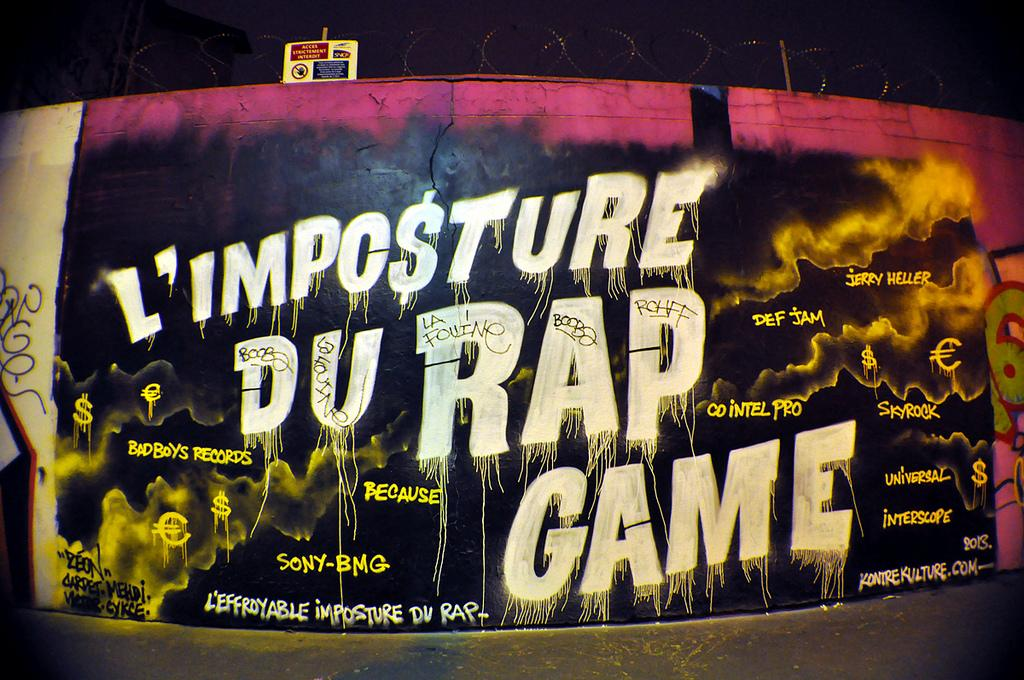 L'Imposture du Rap Game graffiti