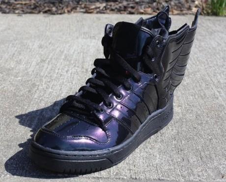 Jeremy Scott x adidas Originals JS Wings 2.0 Black Patent - Paperblog 7c3e7e36b
