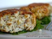 Croquette quinoa-boulgour parmesan basilic
