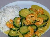 Curry crevettes courgettes lait coco (ww)