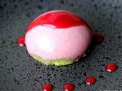 Dessert printanier pour Pâques Dôme framboise pistache