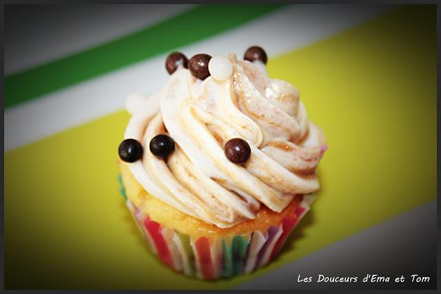 Cupcakes chocobon et son topping au spéculoos