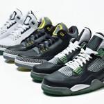Air Jordan 3 + 4 Oregon Ducks Collection
