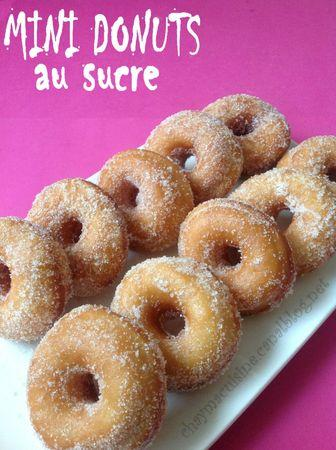 mini donuts au sucre blog