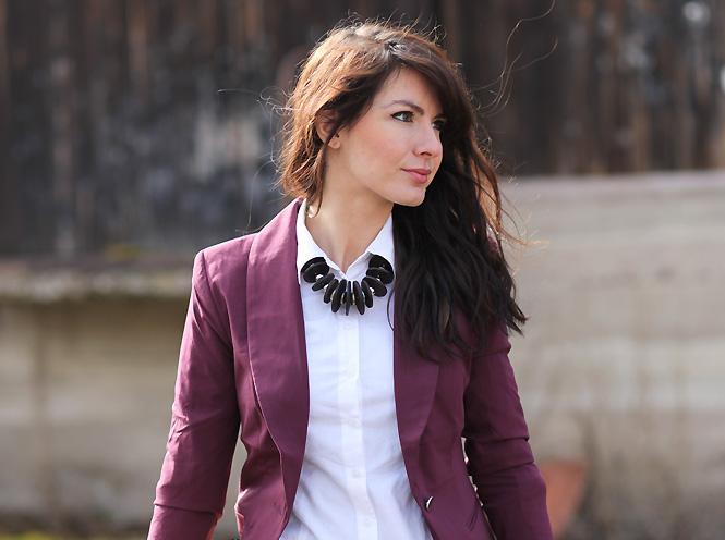 Veste femme couleur prune