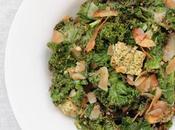 Kale, tofu lacto-fermenté pesto noix coco grillée