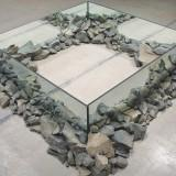 Robert Smithson - Rocks and mirror square II