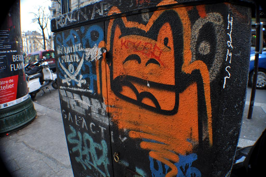 Quartier Pirate et Chat orange