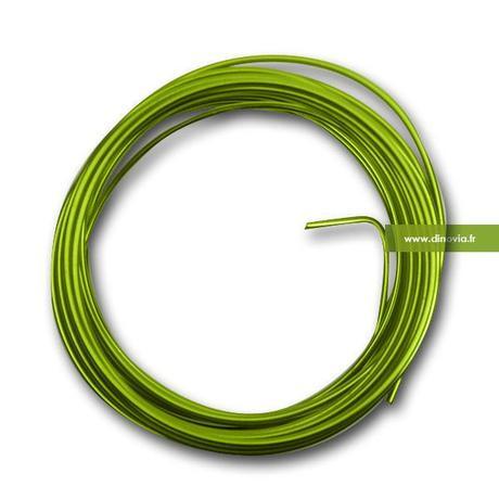 fil metallique mariage vert