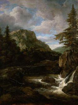 Jacob Isaaksz. van Ruisdael, Paysage avec chute d'eau