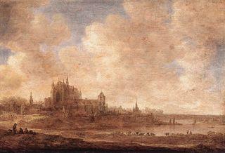 Va Goyen, Vue de Leyde, 1643, 2