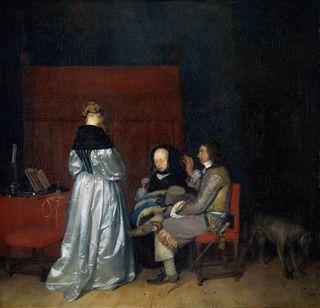 Gérard Terborch, La Remontrance paternelle, v. 1654, Amsterdam