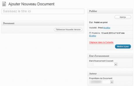 Gestion de documents avec WordPress