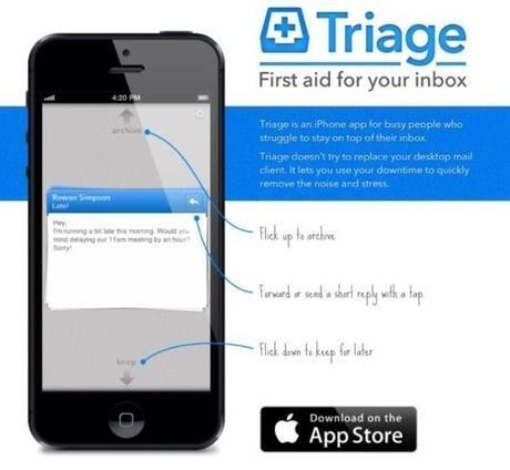 Triage, le nouveau client messagerie sur iPhone...