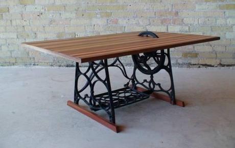 table jordanwaraksa ide dco recycler de vieilles machines coudre en 5 ides - Table Machine A Coudre