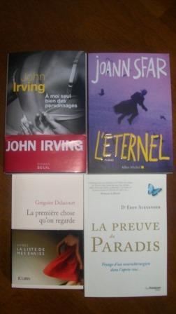 In my mail box: semaine du 15 avril
