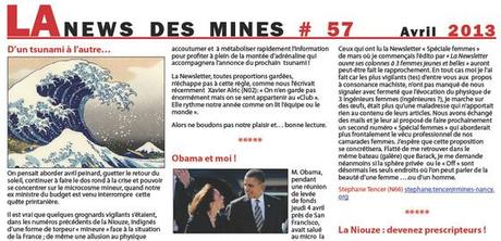 News des mines avril