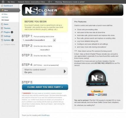 nscloner - duplication de sites WordPress en environnement multi-sites