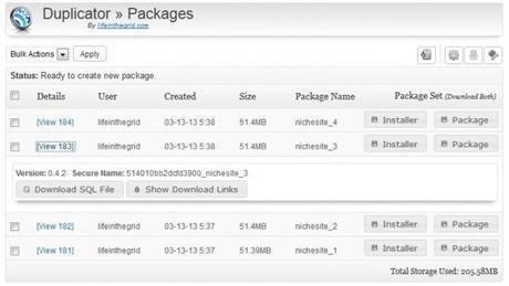 duplicator - plugin de sauvegarde et de clonage d'un site WordPress
