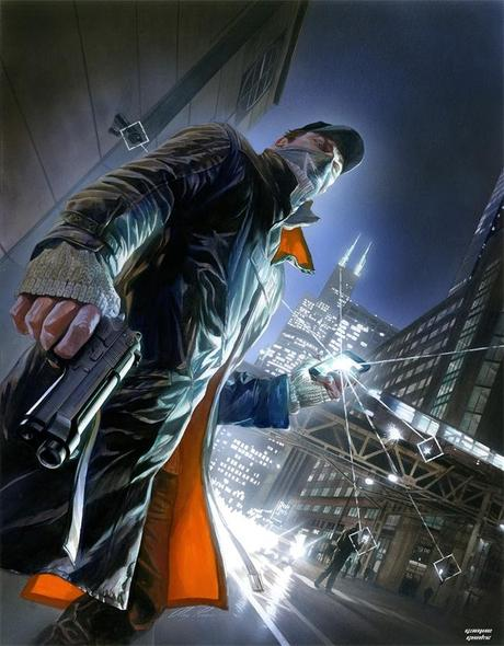1367252669 watch dogs alex ross painting x Watch Dogs : 60 min de plus pour Sony  watch dogs sony ps4 PS3
