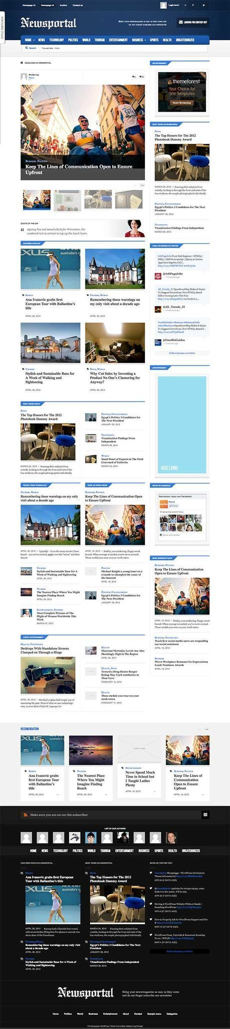 Newsportal WordPress Theme