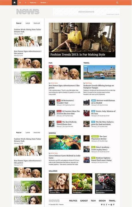 Newses wordpress theme