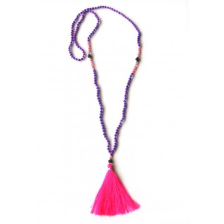 harum pink tassel necklace Zojora    travel inspired
