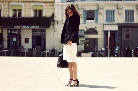 OUTFIT OF THE DAY - Bermuda cuir Vs Nu-pieds