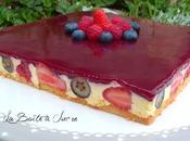 Bavarois citron fruits rouges