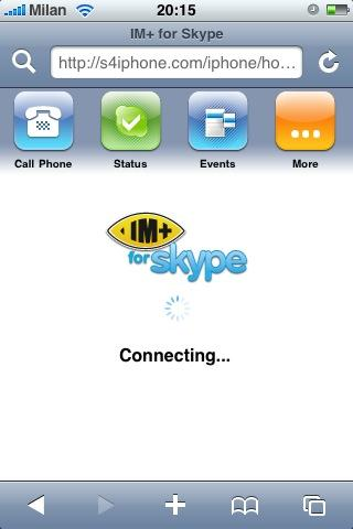 IM+ Skype version iPhone