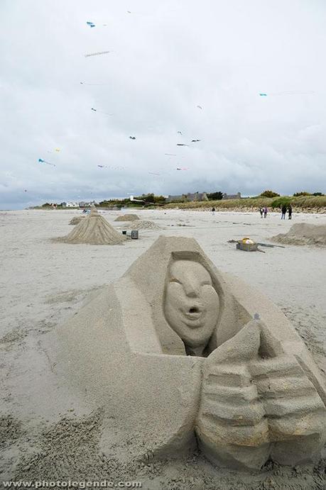 Sculpture sur sable à Santec