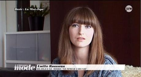 MY INTERVIEW ON THE MINI SKIRT IN L'ÉMISSION DE MODE  / JUNE TV