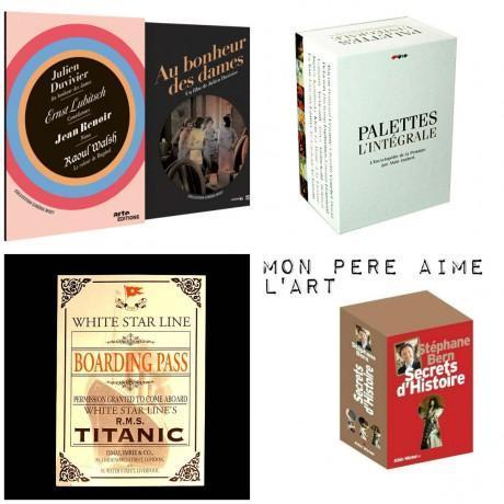 Coffret Muets chez ARTE VIDEOS / Coffret Palettes L'intégrale chez CADEAUX.COM / Exposition Titanic chez FNAC / Coffret Secrets d'Histoire de Stéphane Bern chez ALBIN MICHEL
